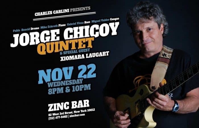 Master Cuban Guitarist Jorge Chicoy to Make Rare Appearance at Zinc Bar Nov. 22