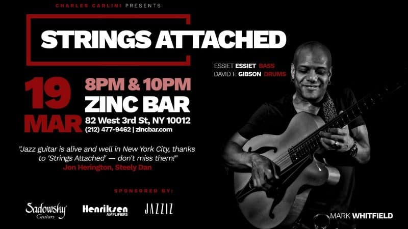 Strings Attached Jazz Guitar Series Starts Monthly Residency at Zinc