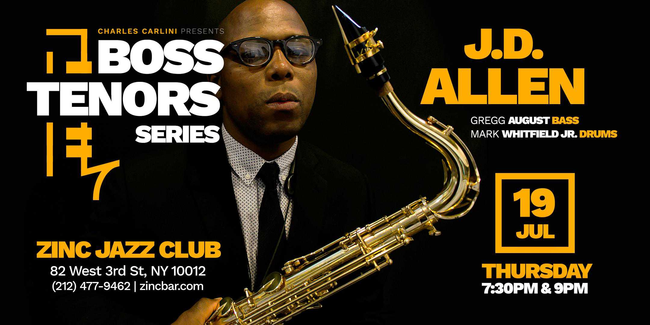 Boss Tenors Series: J.D. Allen Trio