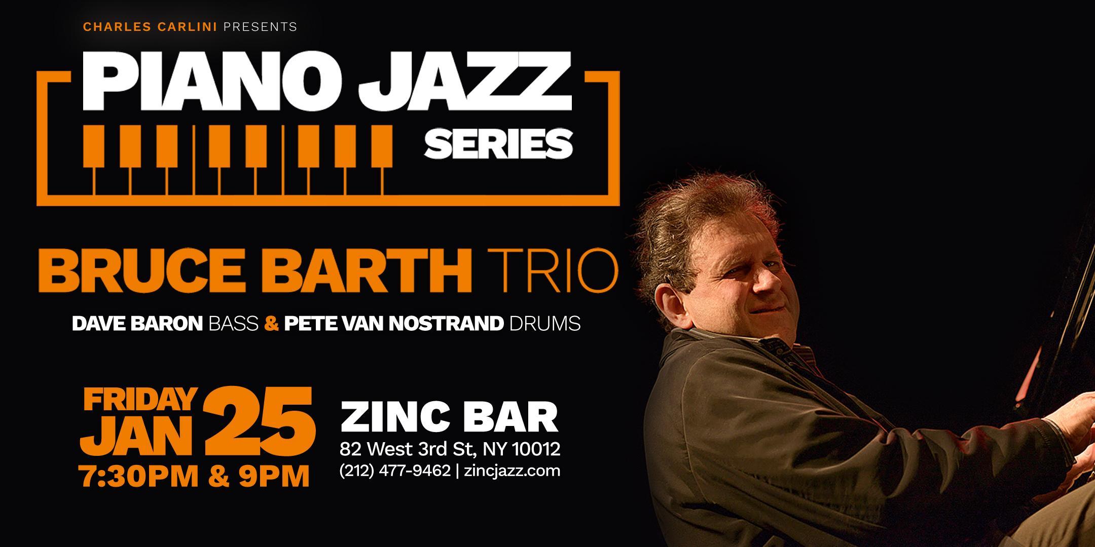 Piano Jazz Series: Bruce Barth Trio