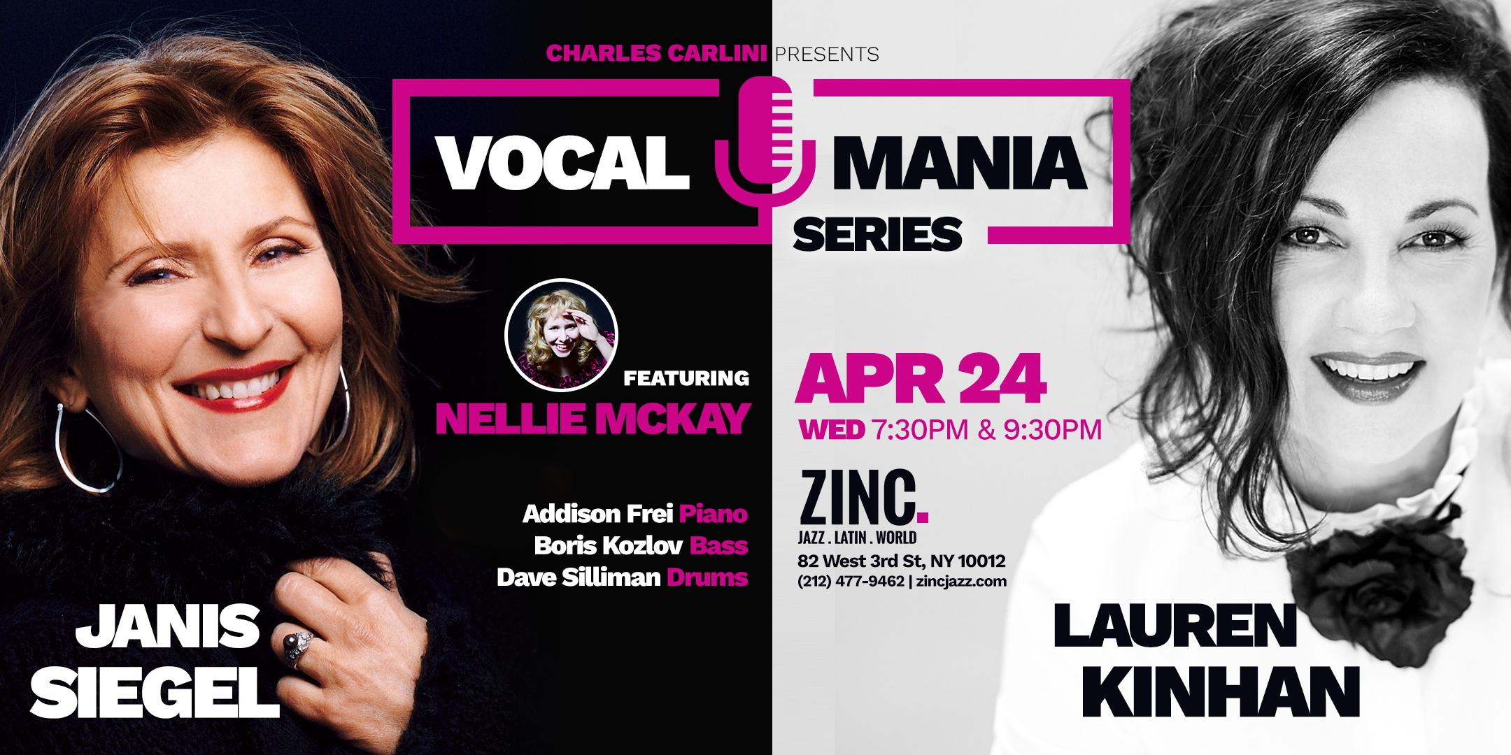 Vocal Mania Series: Janis Siegel & Lauren Kinhan ft. Nellie McKay